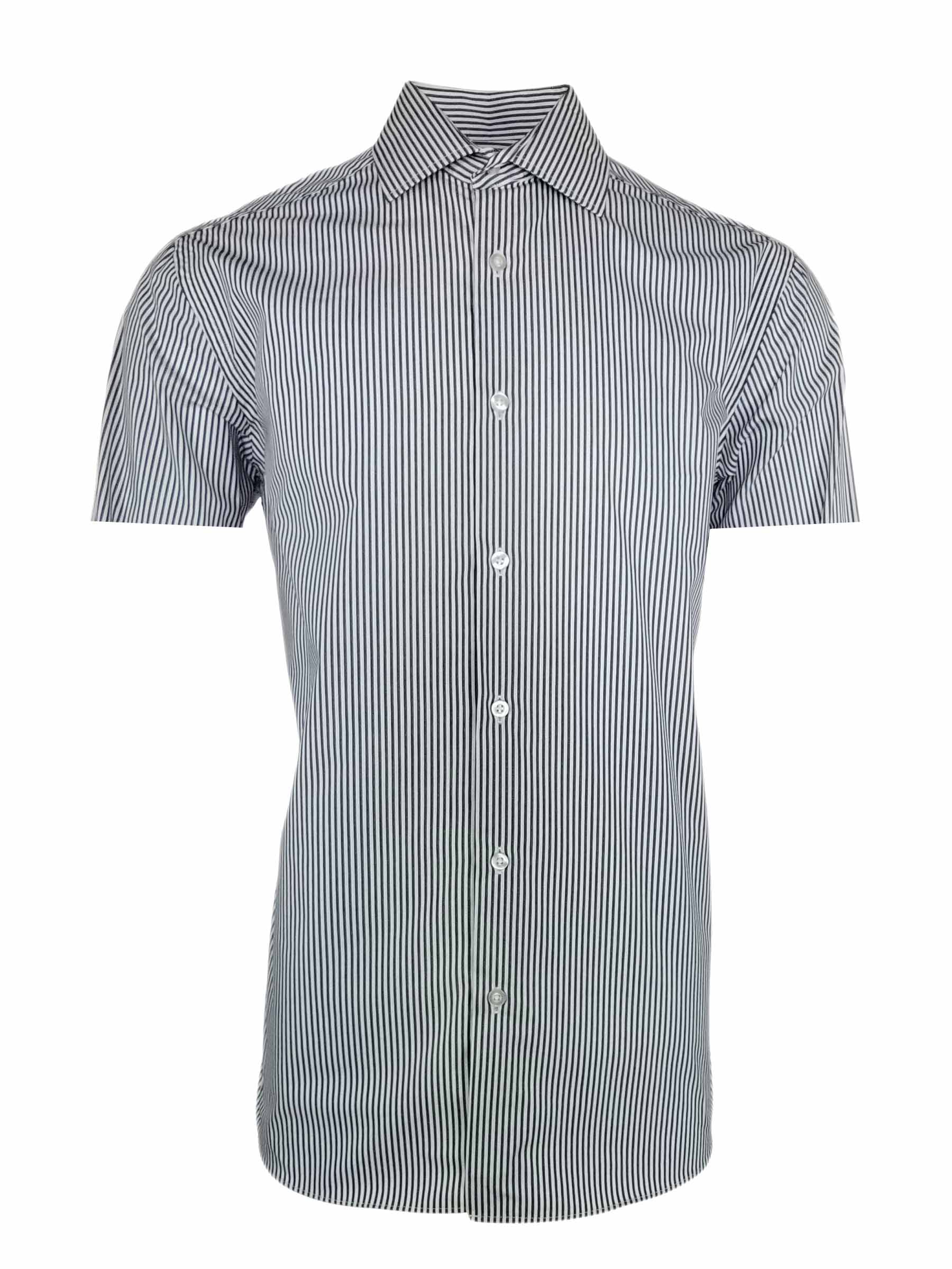 455a55052c205a Home Products Men's Milan Shirt – Black and White Stripe Short Sleeve. 🔍.  AddThis Sharing Buttons