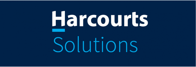 Harcourts Solutions Stand Out from the Real Estate Crowd in their Own Unique Corporate Dress Style Logo